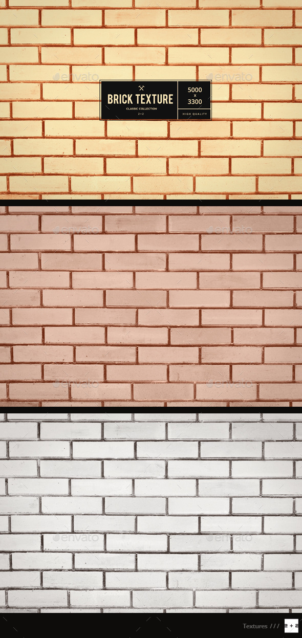 Golden Brick Wall - Metal Textures
