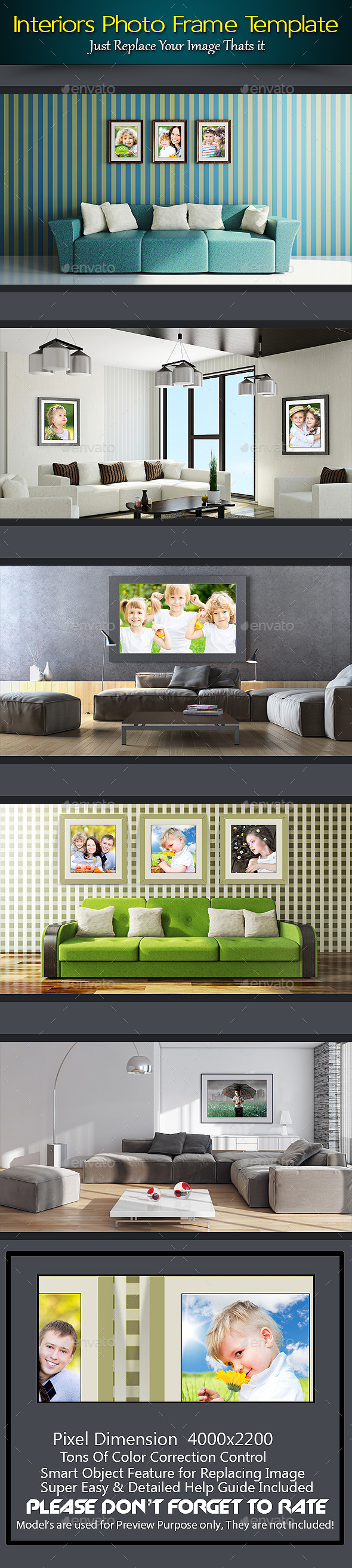 Interiors Photo Frame Template - Photo Templates Graphics