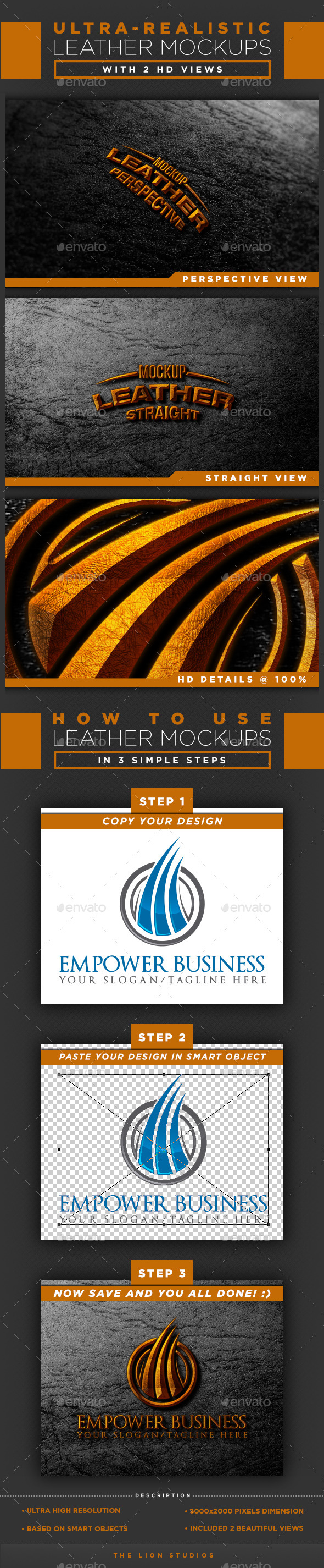 HD Leather Mockups - Logo Product Mock-Ups