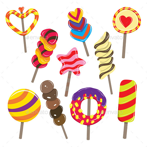 Candy Sticks - Food Objects
