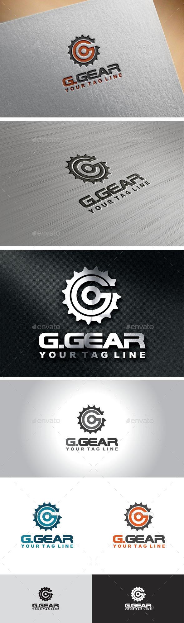 Gear Letter G Logo  - Letters Logo Templates