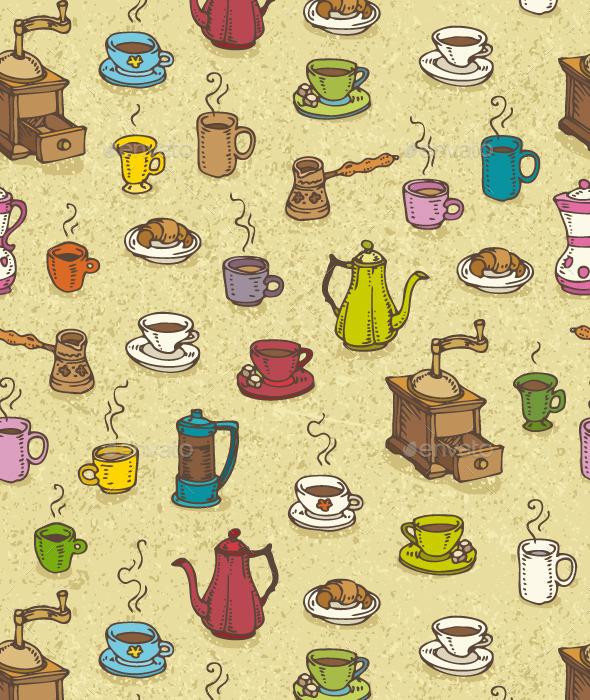 Coffee Pattern - Patterns Decorative