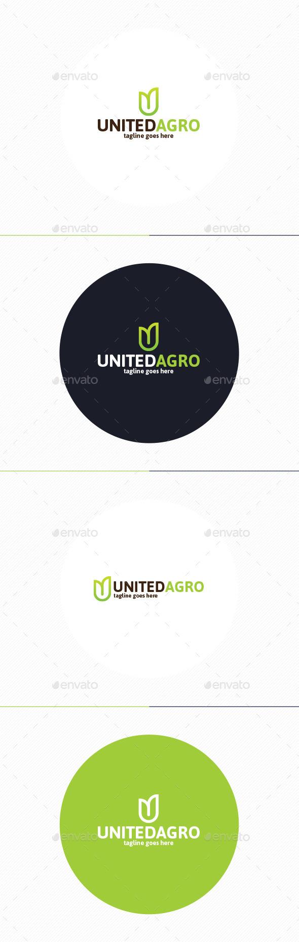 United Agro Logo • Letter U - Letters Logo Templates