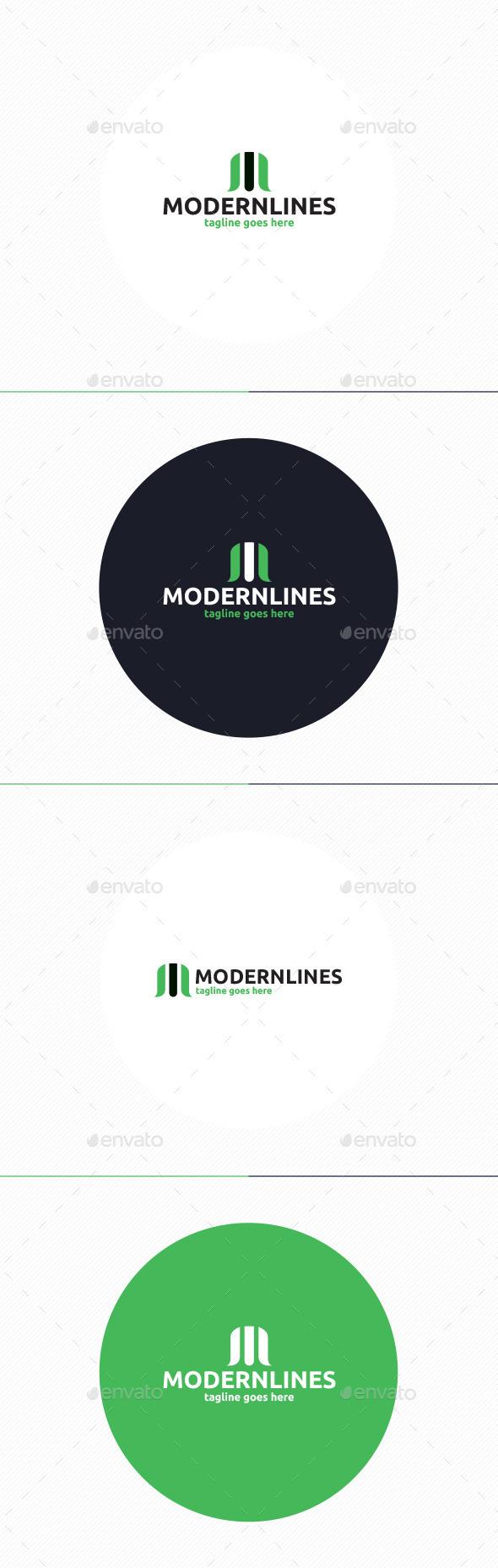 Modern Lines Logo • Letter M - Letters Logo Templates