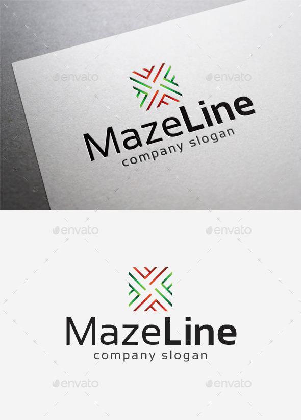 Maze Line Logo - Abstract Logo Templates