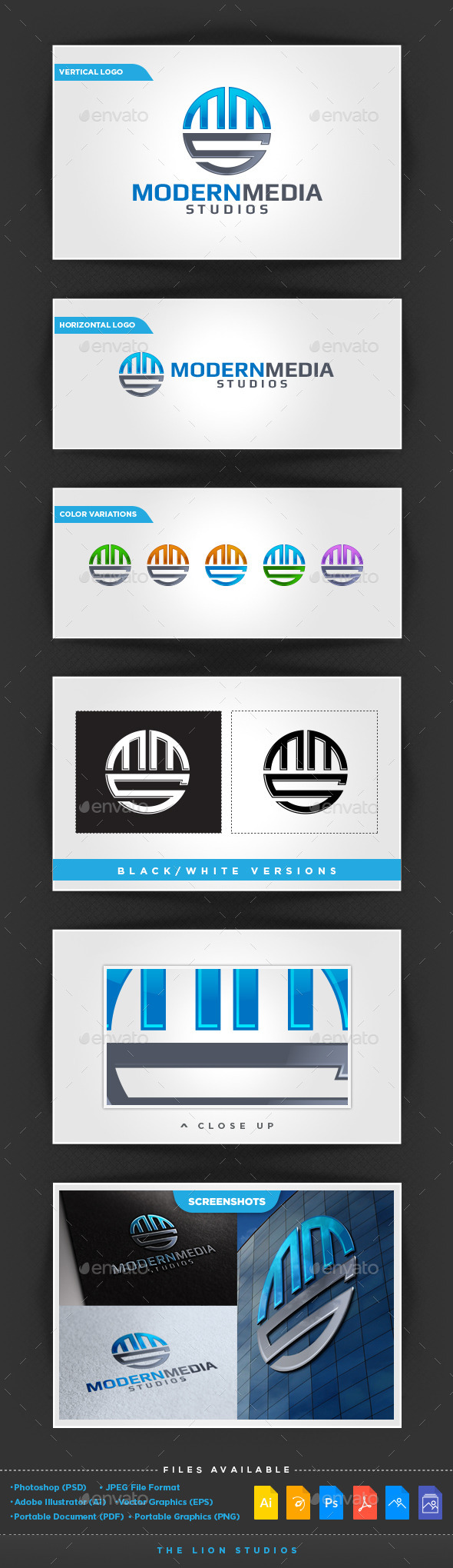 ModernMedia Studios - Letters Logo Templates
