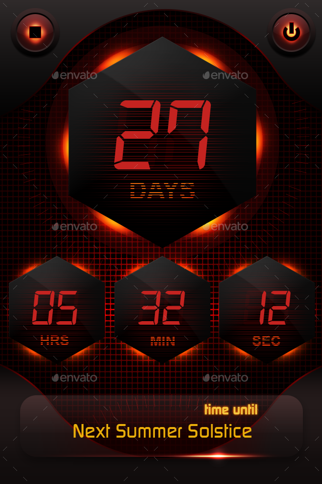 Countdown App Ui By Ddeck21 Graphicriver