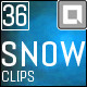 Snow 36 Realistic Clips - VideoHive Item for Sale