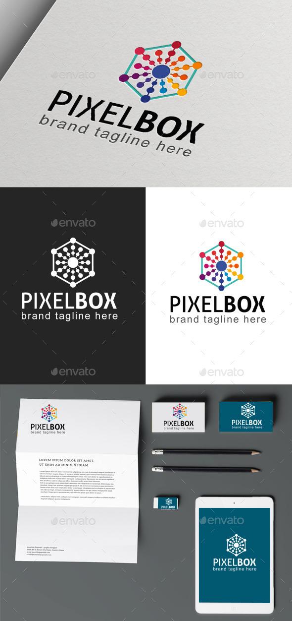 Pixel Box - Symbols Logo Templates
