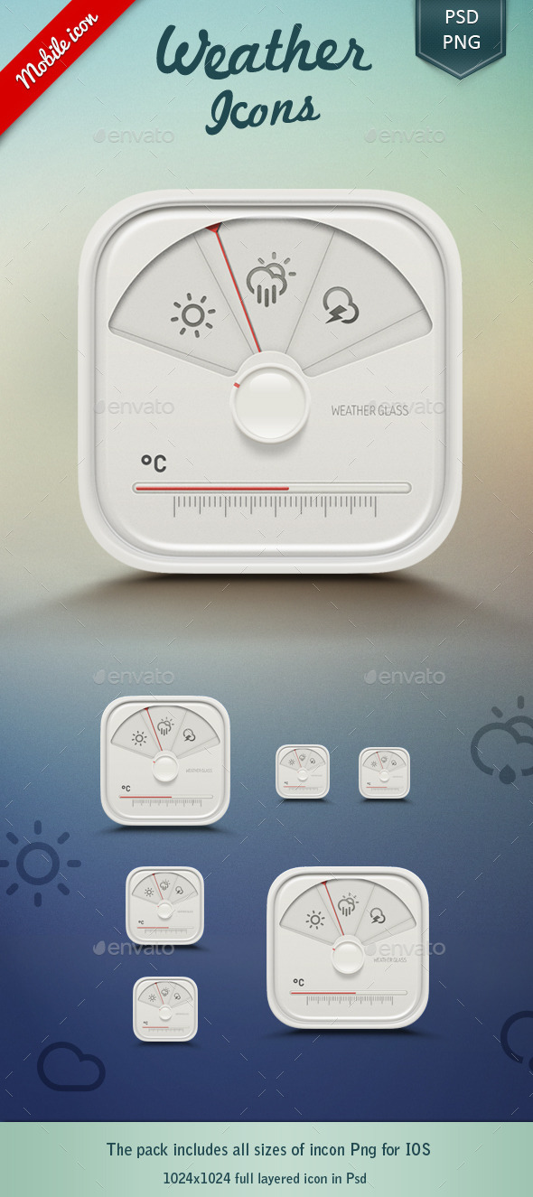 Weather App Icon  - Objects Icons