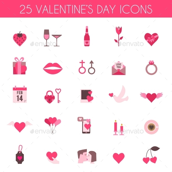 Valentine's Day and Wedding Icons - Valentines Seasons/Holidays