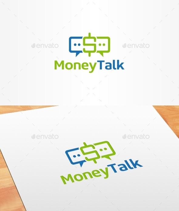 Money Talk Logo Template - Symbols Logo Templates