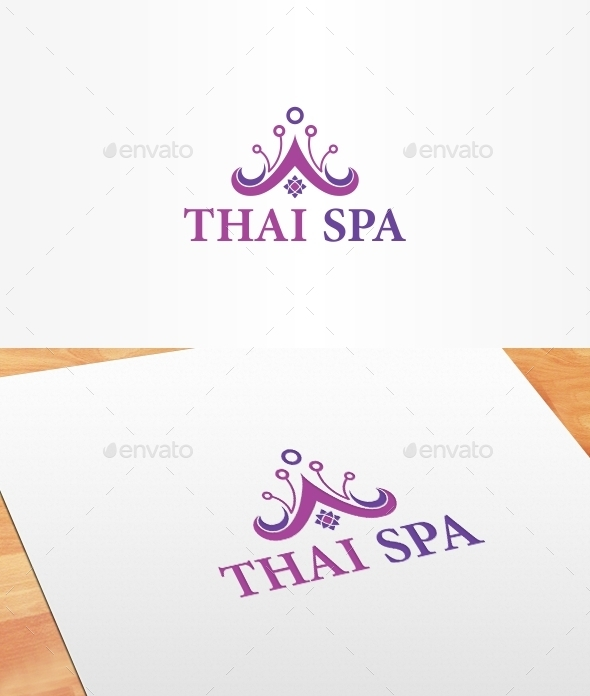 Thai Spa Logo Template - Nature Logo Templates