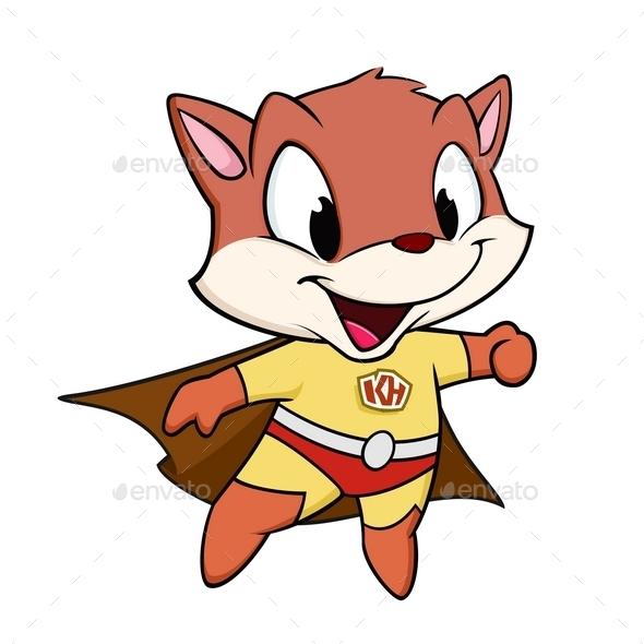 Kitten Superhero - Animals Characters