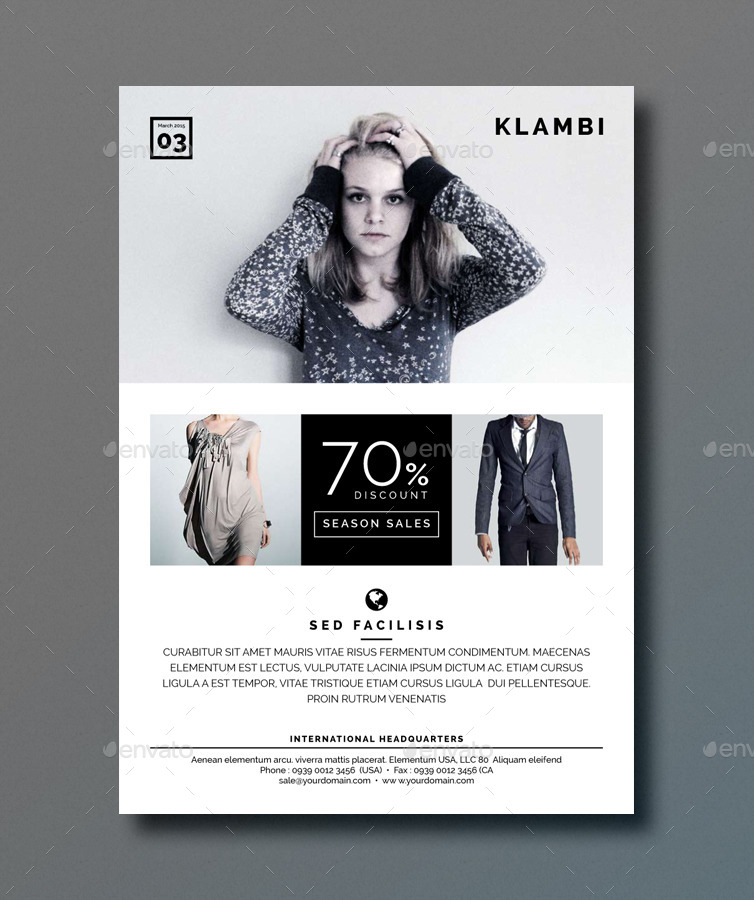 Klambi Fashion Flyer By Boxkayu Graphicriver