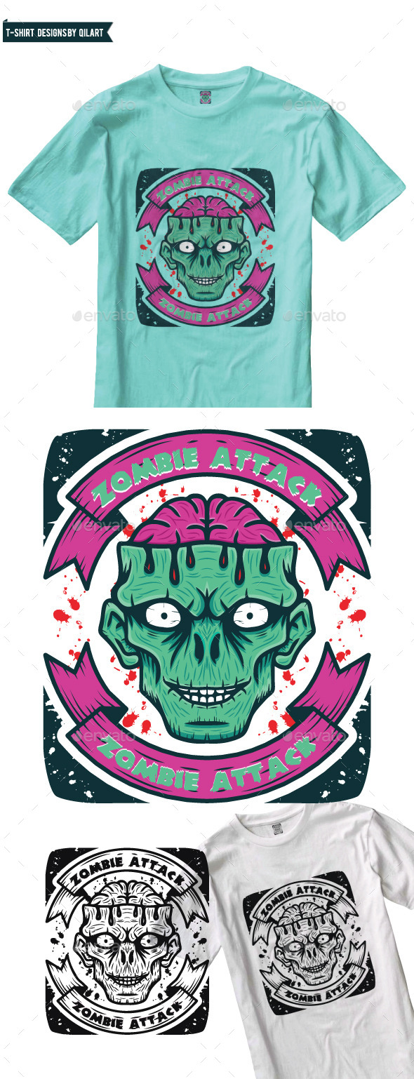 Zombie Attack - Events T-Shirts