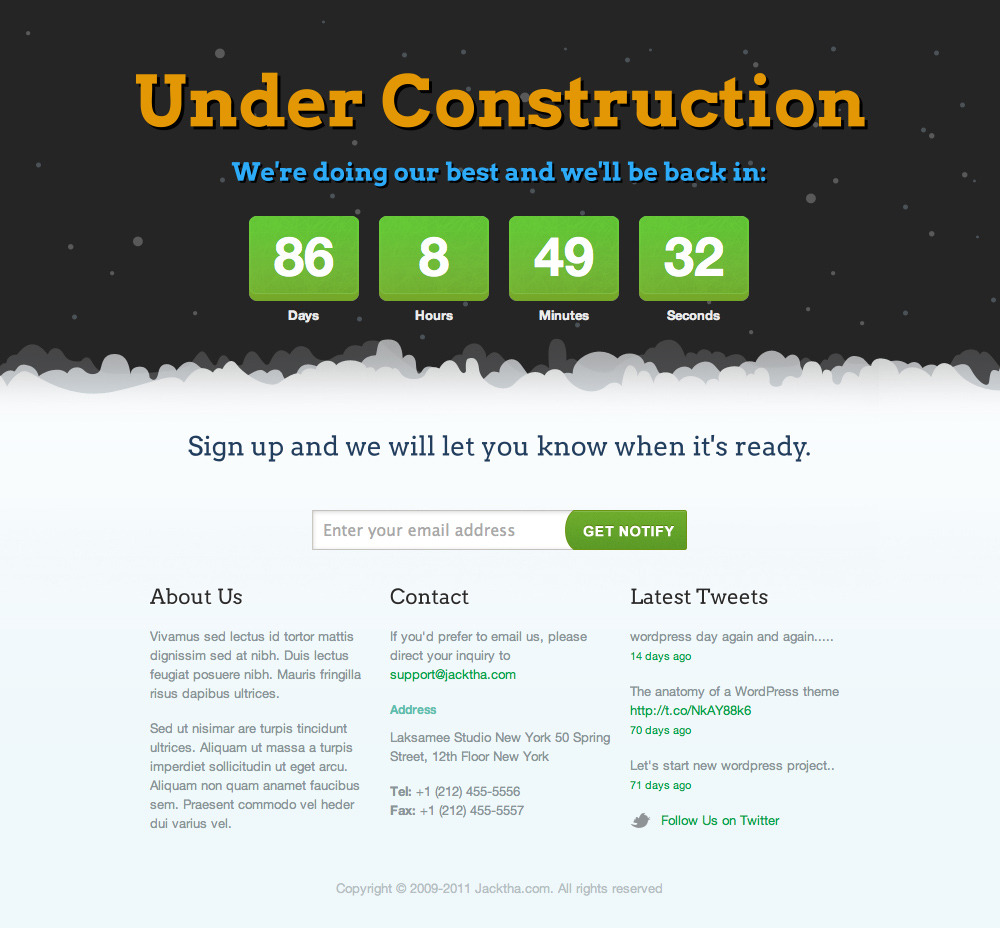 Seal 404-Construction Template by LayerSky   ThemeForest