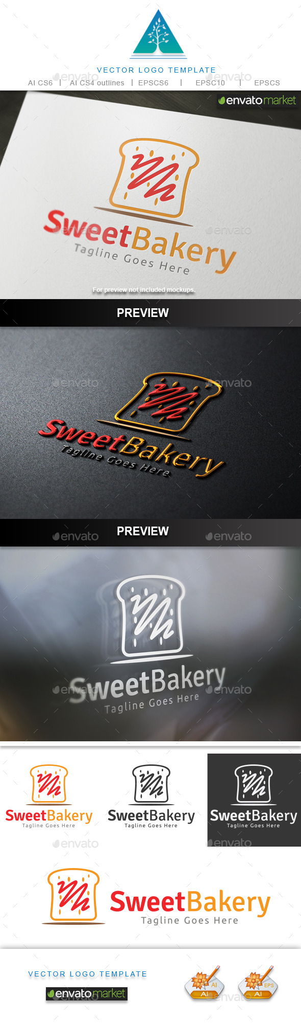 Sweet Bakery Logo - Food Logo Templates