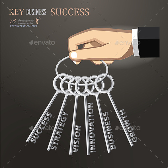 Hand Holding Keys for Business Success - Concepts Business
