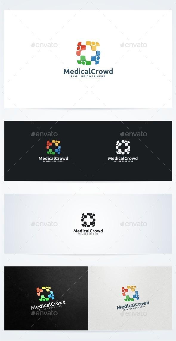 Medical Crowd - Symbols Logo Templates