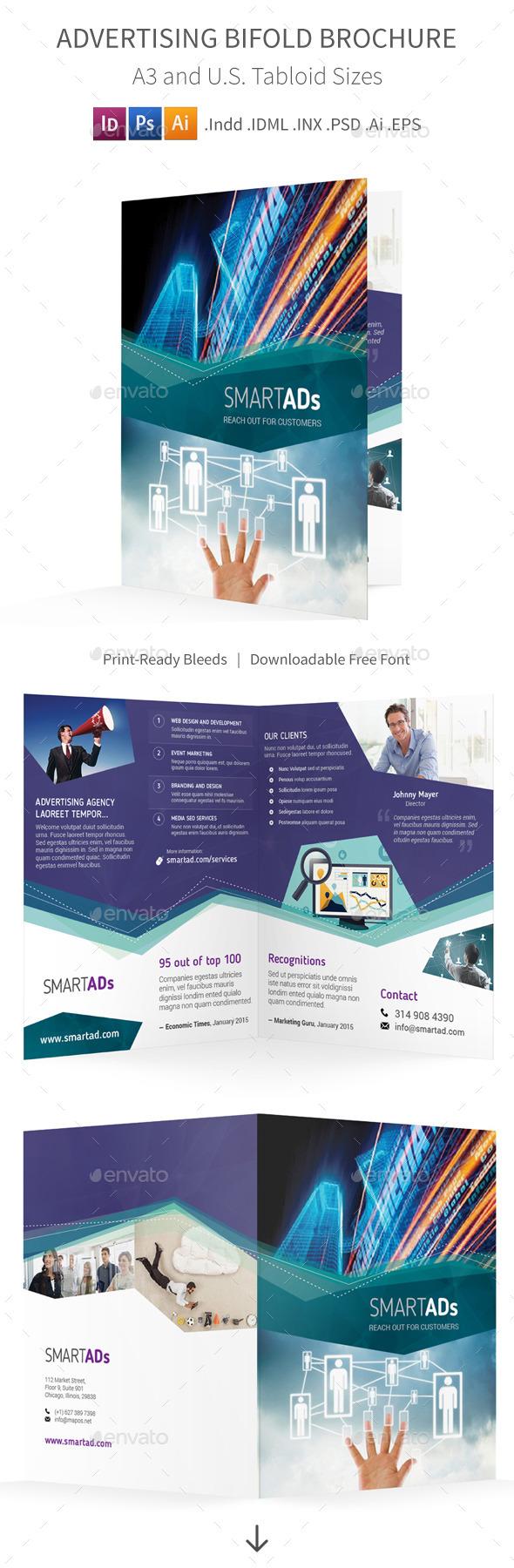 Advertising Bifold / Halffold Brochure - Informational Brochures