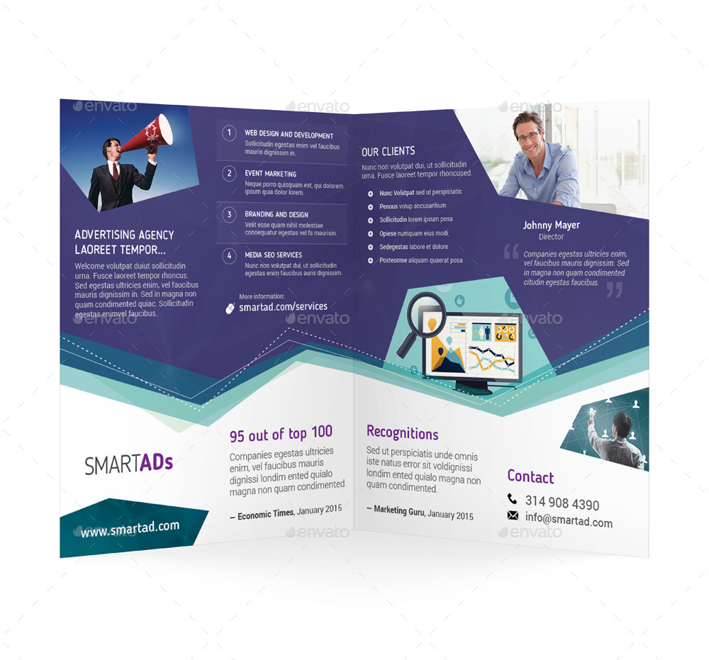 Advertising Bifold / Halffold Brochure by Mike_pantone | GraphicRiver