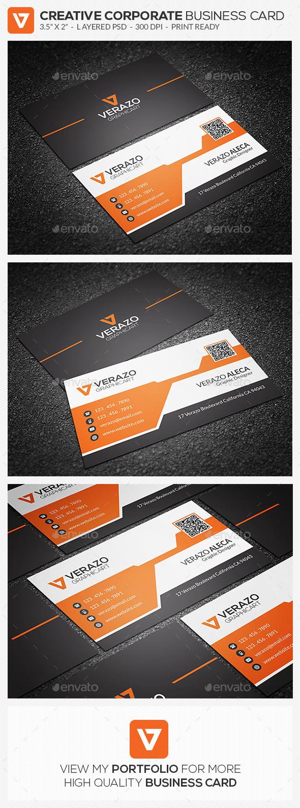 Creative Corporate Business Card 70 - Corporate Business Cards