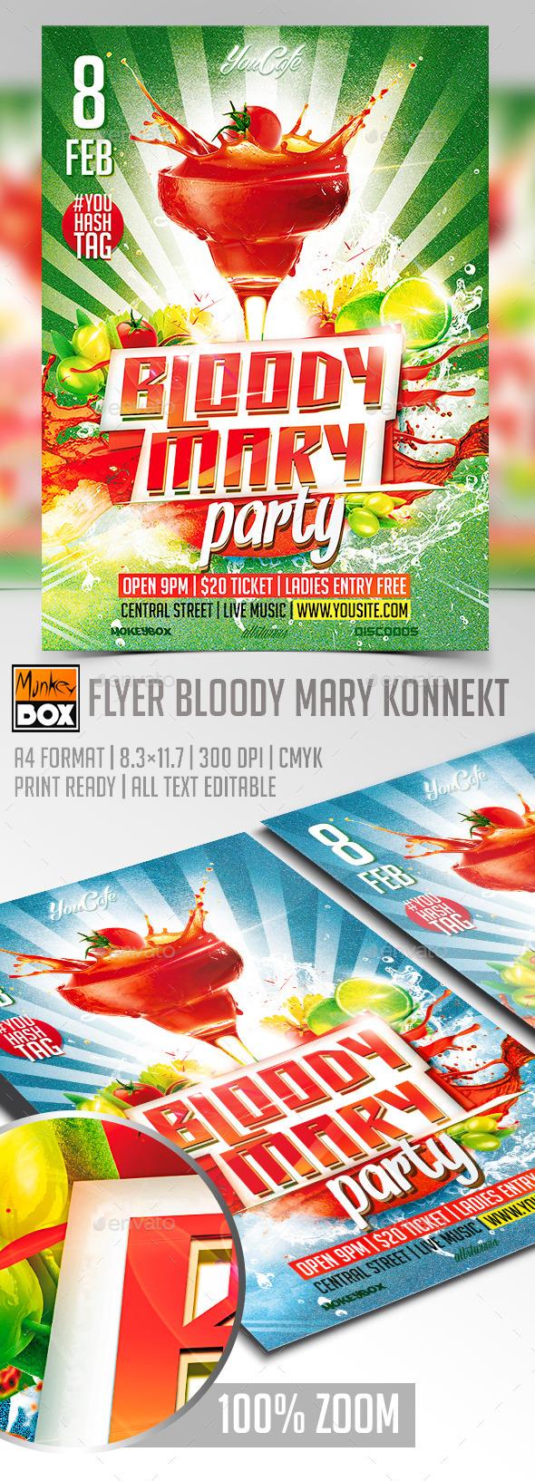 Flyer Bloody Mary Konnekt - Events Flyers