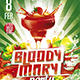 Flyer Bloody Mary Konnekt - GraphicRiver Item for Sale