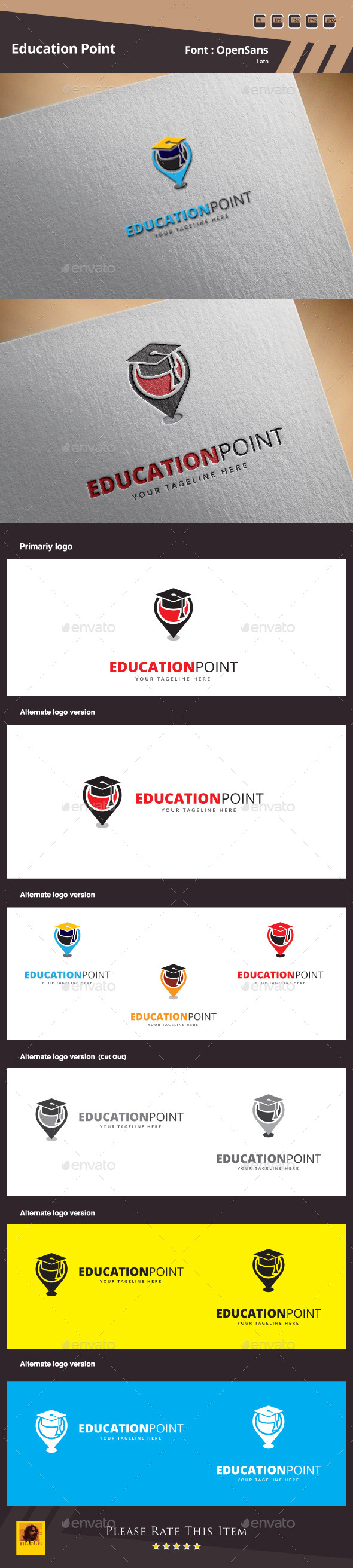 Education Point Logo Template - College Logo Templates