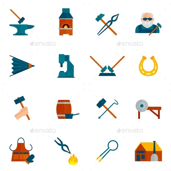 Blacksmith Icon Flat - Miscellaneous Icons