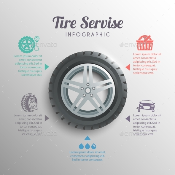 Tire Service Infographics - Concepts Business
