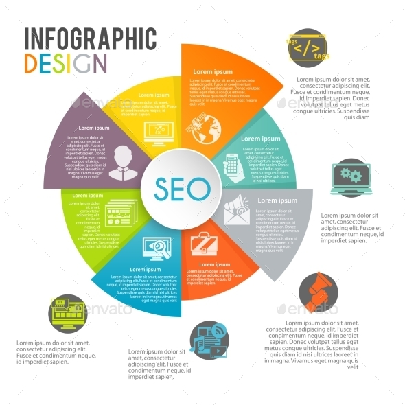 Seo Internet Marketing Infographics - Technology Conceptual