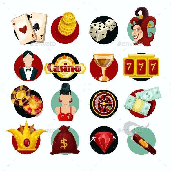 Casino Icons Set - Miscellaneous Vectors
