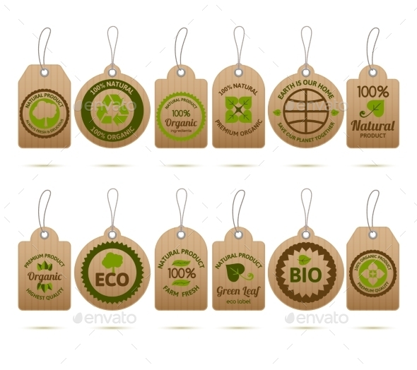Ecology Cardboard Tags - Food Objects