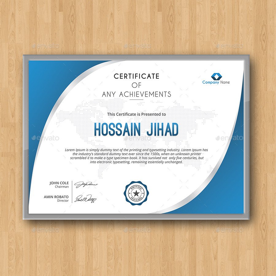 Certificate by themedevisers graphicriver screenshotscreen shot 1g yadclub Choice Image