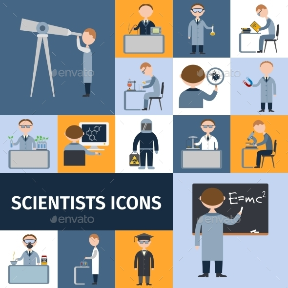 Scientists Icon Set - Miscellaneous Conceptual