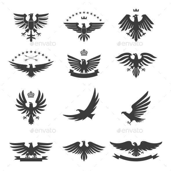 Eagles Set Black - Animals Characters