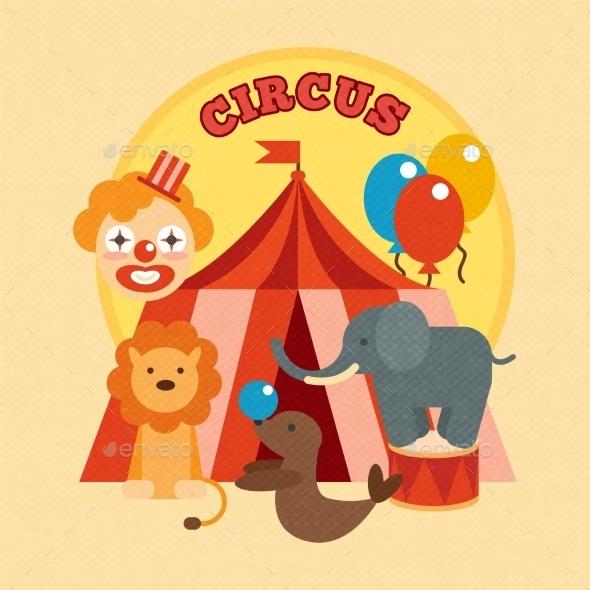 Circus Poster Flat - Backgrounds Decorative