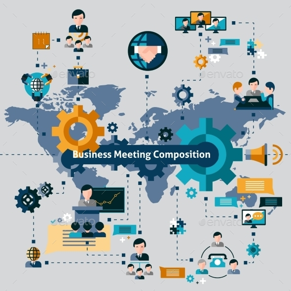 Business Meeting Composition - Concepts Business