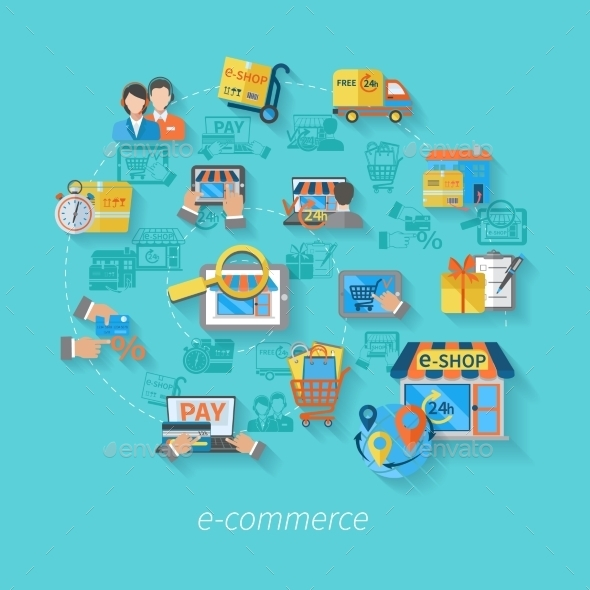Shopping E-commerce Concept - Business Conceptual