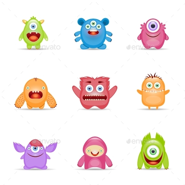 Monster Character Set - Monsters Characters