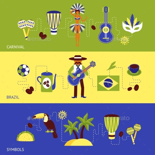 Brazil Banner Set - Miscellaneous Vectors