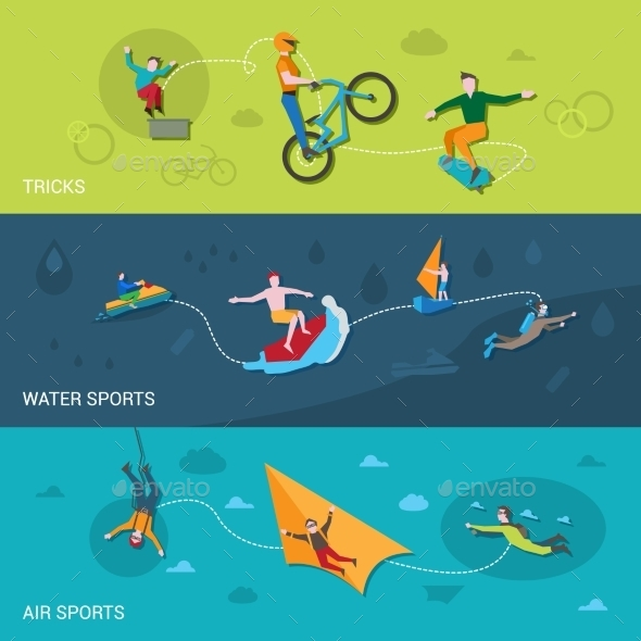 Extreme Sports Banners - Sports/Activity Conceptual
