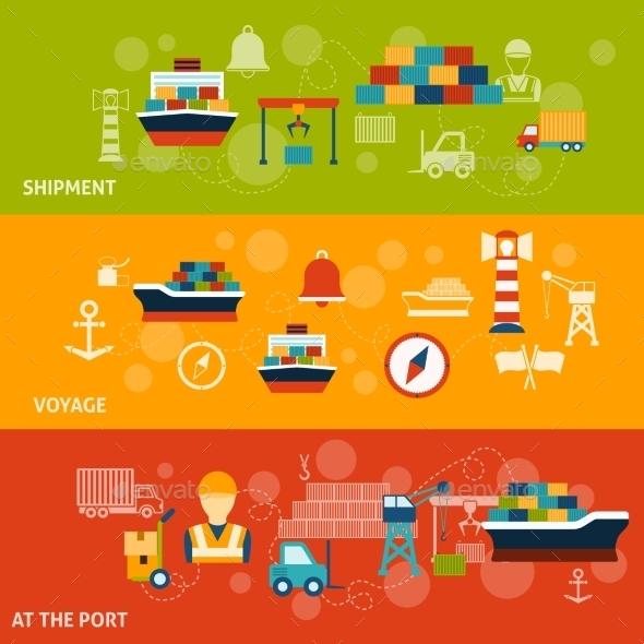 Seaport Banner Set - Travel Conceptual