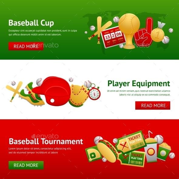 Baseball Banner Set - Sports/Activity Conceptual