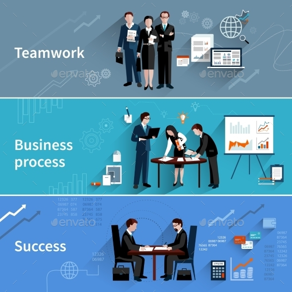 Teamwork Banners Set - Concepts Business