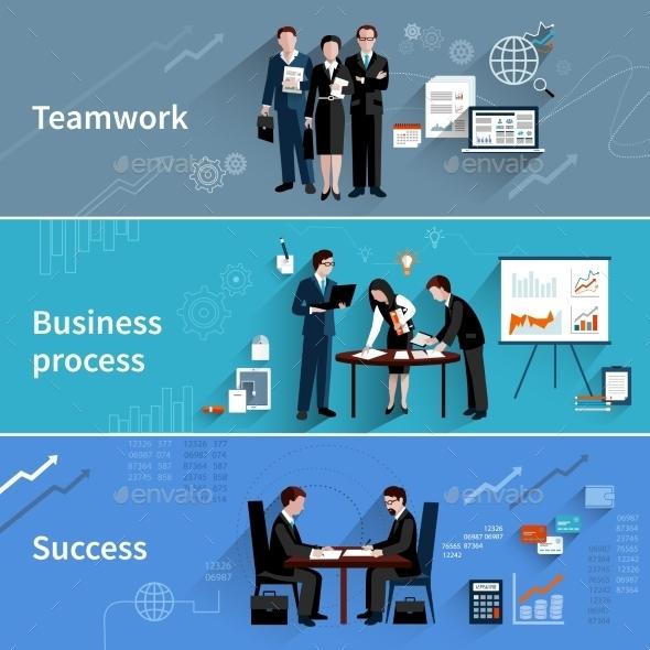 Teamwork Banners Set - Concepts Business