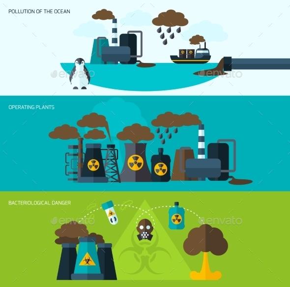 Pollution Banner Set - Nature Conceptual