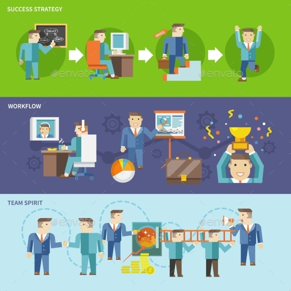 Businessman Working Set - Concepts Business